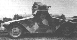 Profile view of a Škoda PA-I, with a very interesting camouflage pattern