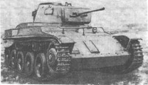 Black and white photograph of a 41M Toldi II