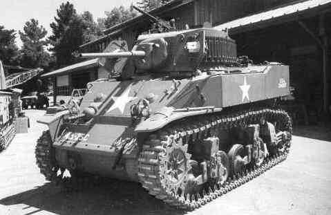 Front and left side of a Light Tank, M5A1